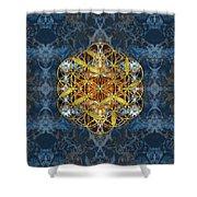 Decorative Gemstone Sacred Geometry Flower Of Life   Shower Curtain