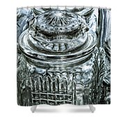 Decorative Glass Jars Shower Curtain