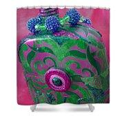 Decorative Pink Bottle Shower Curtain