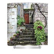 Decorative Stairway Shower Curtain