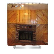 Decorative Woodworking Shower Curtain