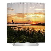Dectur Bridge Shower Curtain