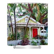Dee Dee's Cottage Shower Curtain