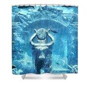 Deep Atlantis Shower Curtain