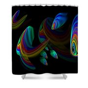 Deep Blue 2 Shower Curtain