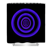 Deep Blue Shower Curtain