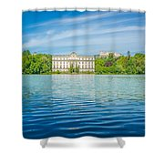 Deep Blue Salzburg Shower Curtain