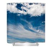 Deep Blue Sky Shower Curtain