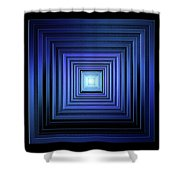 Deep Blue Solstice Shower Curtain