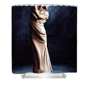 Deep Consideration Shower Curtain by Richard Young