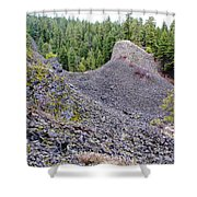 Deep Creek Rocks Shower Curtain