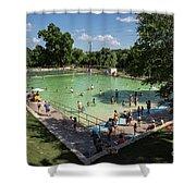 Deep Eddy Pool Is A Family Friendly, Family Fun, Public Swimming Pool In Austin, Texas Shower Curtain