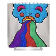 Deep Expression Shower Curtain