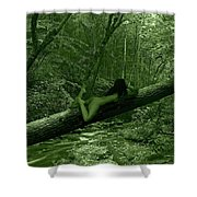 Deep Green  Shower Curtain