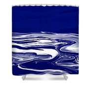 Deep In Blue Shower Curtain
