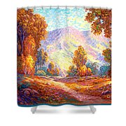 Radiant Peace, Colors Of Fall Shower Curtain