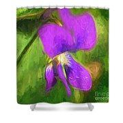 Deep Purple - Wildflower Art Shower Curtain