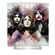 Deep Purple.rock Stars Shower Curtain