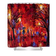 Deep Red Shower Curtain