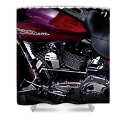 Deep Red Harley Shower Curtain