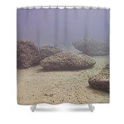 Deep Rocks Shower Curtain