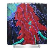 Deep Sea Jelly Shower Curtain