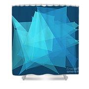 Deep Sea Polygon Pattern Shower Curtain