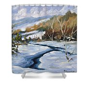 Deep Snow Shower Curtain