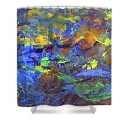 Deep Space Abstract Art Shower Curtain