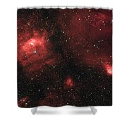 Deep Space Bubble Nebula Ngc 7635 In Constellation Cassiopeia Shower Curtain