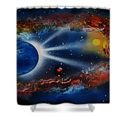 Deep Space Cavern Shower Curtain
