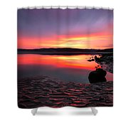 Deep Sunset At Morecambe Shower Curtain