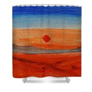 Deep Sunset Shower Curtain