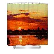 Deep Sunset Shower Curtain