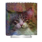 Deep Thoughts - Square Version Shower Curtain