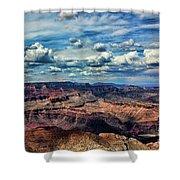 Deep Tones Grand Canyon  Shower Curtain