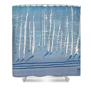 Deep Winter Shower Curtain
