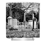 Deep Within Evergreen Cemetery Shower Curtain