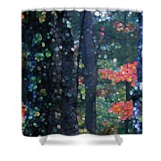 Deep Woods Mystery Shower Curtain