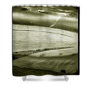 Deepening Shadows Shower Curtain