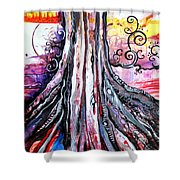 Deeply Rooted II Shower Curtain