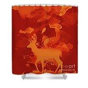 Deer Art Evening Shower Curtain