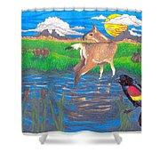 Deer Blessing Shower Curtain
