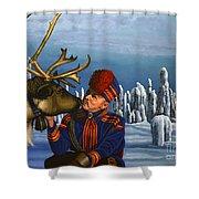 Deer Friends Of Finland Shower Curtain