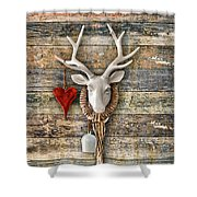 Deer Heart - Hirschherz Shower Curtain