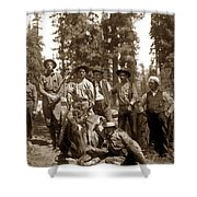 Deer Hunters  With Rifles Circa 1917 Shower Curtain