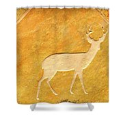 Deer In Stone Shower Curtain