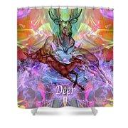 Deer Moon Shower Curtain