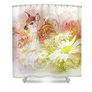 Deer One Shower Curtain
