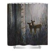 Deer Pair Shower Curtain